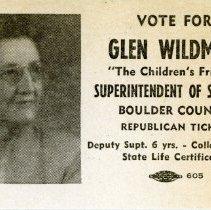 Image of Glen Wildman Election Card