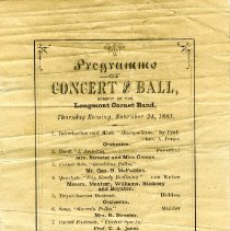 Image of Cornet Band program 1881