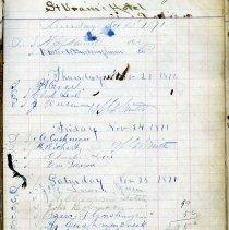 Image of St. Vrain Hotel register p. 3