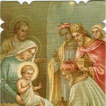Image of Christmas postcard of 3 Kings
