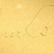 Image of Signature on back of 1996.055.005