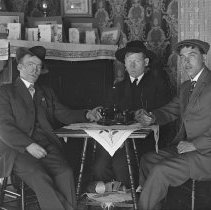 Image of 3 Men Seated at Table - Print, Photographic
