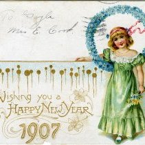 Image of New Years postcard 1907
