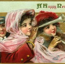 Image of New Years postcard 1912