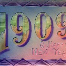 Image of New Years postcard 1909