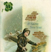 Image of New Years postcard
