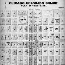 Image of Chicago Colorado Colony Map