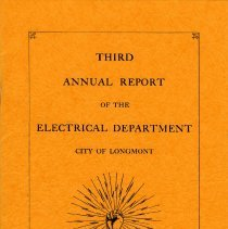 Image of Cover of Third Annual Report of the Electric Dept