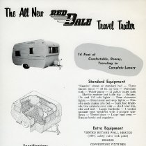 Image of Red Dale Coach Travel Trailer sales flyer
