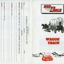 Image of Red Dale Wagon train brochure - front