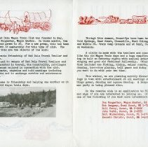 Image of Red Dale Wagon Train brochure - inside