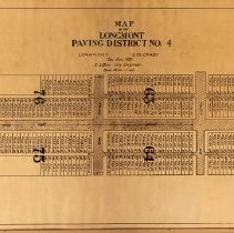 Image of Map of Longmont paving distirct no 4.