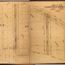 Image of Map fo Longmont paving districts no 5 and 6.