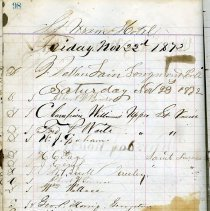 Image of Guest register page 98