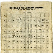 Image of Map of the Chicago-Colorado Colony