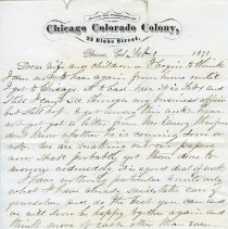 Image of Seth Terry letter, Feb 1, 1871