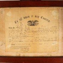 Image of Civil War discharge paper