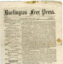 Image of Burlington Free Press May 5, 1871 p1