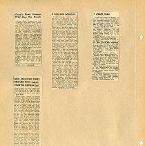 Image of Longs Peak Grange scrapbook p.  10