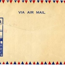 Image of Airmail envelope back