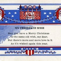 Image of Christmas card carried by Gordon Atherton
