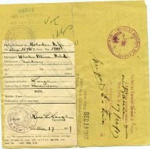 Image of Back of Ross Large military ID card