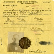 Image of Ross Large military identity card