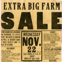 Image of Farm sale poster