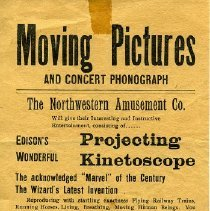 Image of Edison Projecting Kinetoscope handbill