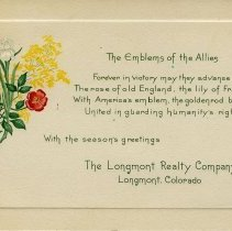 Image of Emblems of the Allies postcard