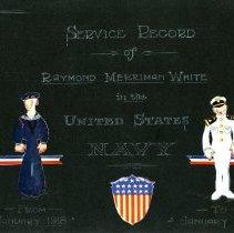 Image of Raymond White WW I Album, Page 001