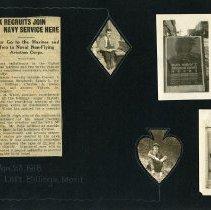 Image of Raymond White WW I Album, Page 004