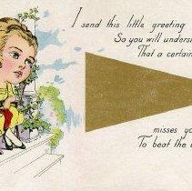 Image of Greeting card - World War I era