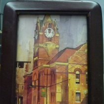 Image of Print - A framed watercolor print of the Historic Courthouse downtown Anderson.