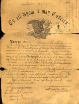 Image of 1962.134.1 - Discharge certificate for George Miller