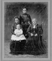 Image of 1964.183.23.1 - Great Grandmother Anderson, Grandmother Hanson, Aunt Hattie Graves
