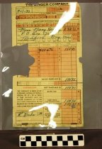 Image of 1982.107.87.36.2 - Receipt for Mary Hanley's Singer Sewing Machine