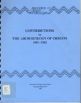 Image of Book - Contributions to the Archaeology of Oregon  1981-1982