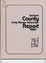 Image of Book - Jackson County Long-range Extension Report 1980