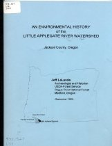 Image of Booklet - An Environmental History of the Little Applegate River Watershed