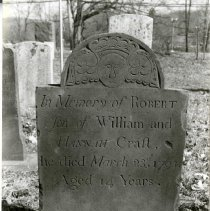 Image of Print, Photographic - Robert Craft tombstone in Saint George's and Saint Mark's Episcopal Church Cemetery.
