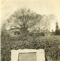 Image of Print, Photographic - Tablet on east side of Weaver Street at Cornell Street commemorating the British march to the Battle of White Plains.