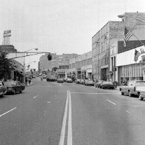 Image of Print, Photographic - Looking west on East Post Road toward its intersection with Waller Avenue, March 2, 1966