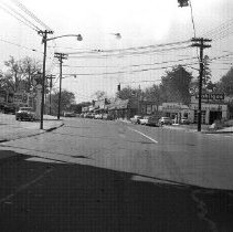 Image of Print, Photographic - Looking southwest on Post Road from its intersection with Lynton Place, October 20, 1957