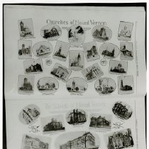 Image of Print, Photographic - Composite picture of churches, a synagogue and schools of Mount Vernon