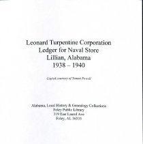 Image of Leonard Turpentine Corporation