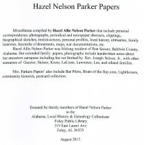 Image of Hazel Nelson Parker Papers