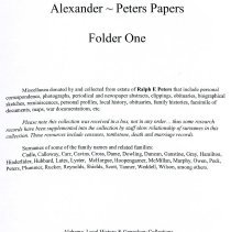 Image of Records/Alexander Peters Papers - 30435001146408