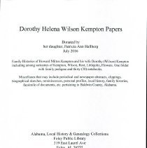 Image of Dorothy Helena Wilson Kempton Papers