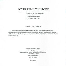 Image of Boyer Family History